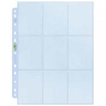 Ultra Pro 9-Pocket Platinum Page for Standard Size Cards