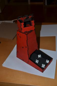 Turbo Laser Dice Tower Sith Rot
