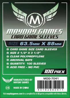 Mayday-Hüllen Standard Card Game Sleeves (100) • 63.5 x 88mm (grün)