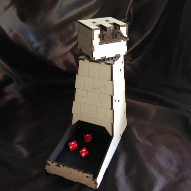 Turbo Laser Dice Tower Death Star grau