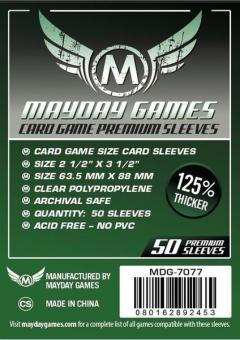 Mayday-Hüllen Premium Card Game Sleeves (50) • 63.5 x 88mm (grün)