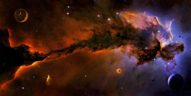 Spacematte Rot/Blau