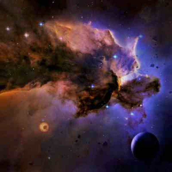 Spacematte Blau
